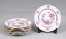 Set of 8 Hand Painted Herend Luncheon Plates