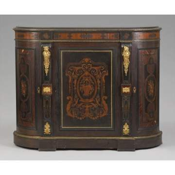 Rosewood Inlaid Side Cabinet