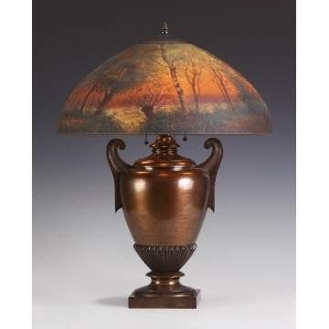 Handel Reverse Painted Table Lamp