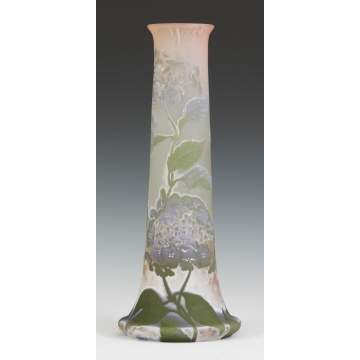 "24"" Sgn. Galle Cameo Vase"