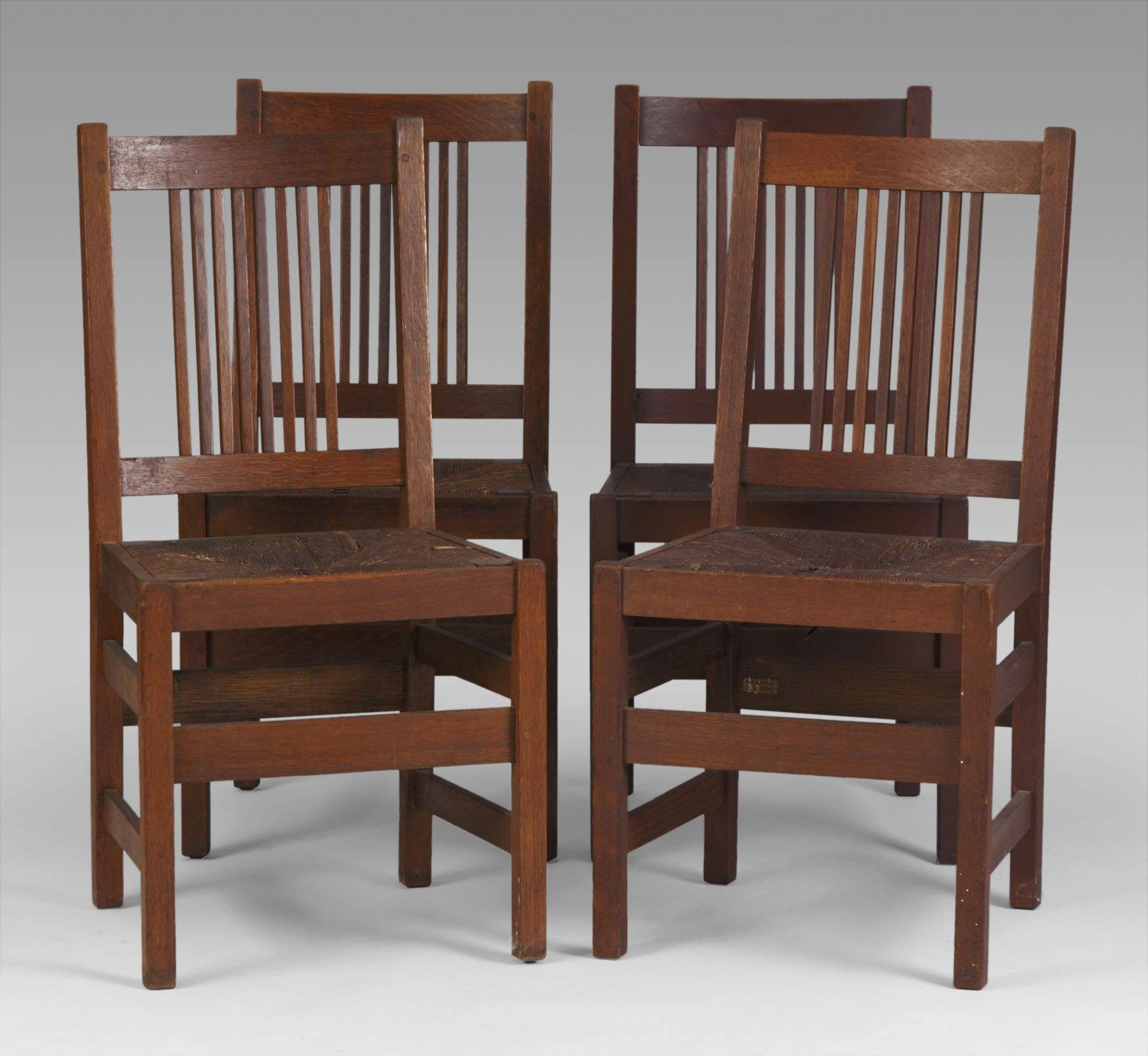 set of 4 l u0026 j g stickley dining chairs cottone auctions