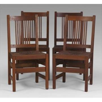 Set of 4 L & J.G. Stickley Dining Chairs | Cottone Auctions
