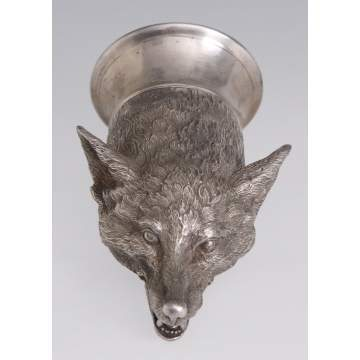 """The Royal Berkshire Hunt"" English Silver, Fox Stirrup Cup"