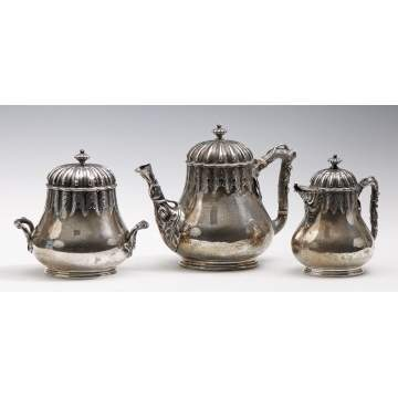 Tiffany & Co. 3 Piece Sterling Tea Service