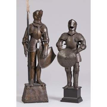 2 - Late 19th/Early 20th Cent. Miniature Suits of Armor