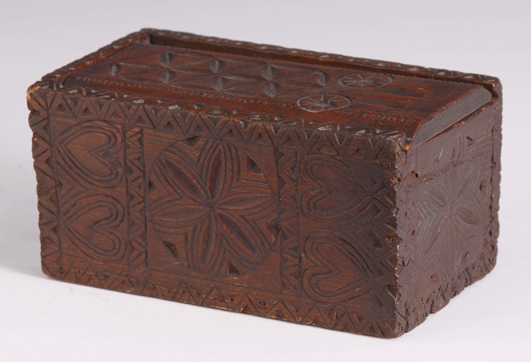 Early pa chip carved pine candle box cottone auctions