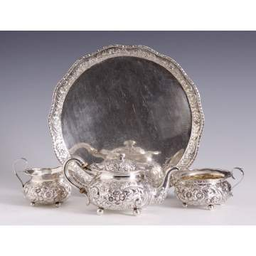 3-Pc. Sterling Tea Set w/Tray