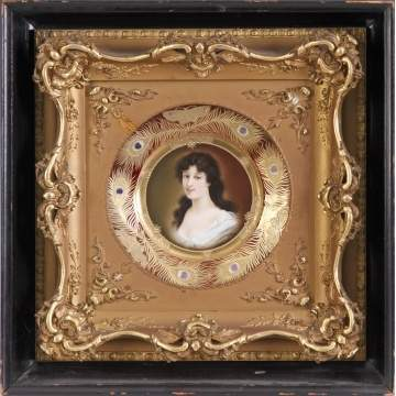 Royal Vienna Hand Painted Porcelain Portrait Plate