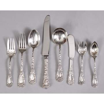 Durgin Chrysanthemum Flatwear Set & Serving Pieces