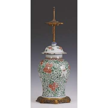 Chinese Porcelain Vase, converted to lamp