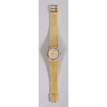 Ladies 18k Corum Automatic Gold & Diamond Watch