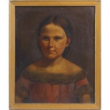 Primitive Painting of Girl