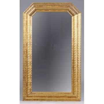 Mid 19th Cent. Carved & Gilt Wood Mirror