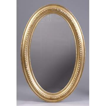 Mid 19th Cent. Carved & Gilt Wood Oval Mirror