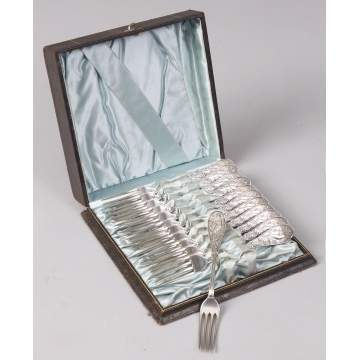 Tiffany & Co. Set of 12 Japanese Pattern Sterling Silver Forks