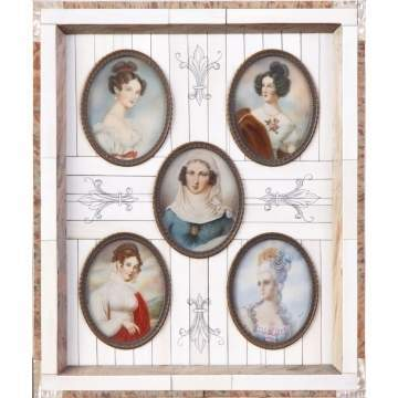 19th Cent. French Paintings on Ivory