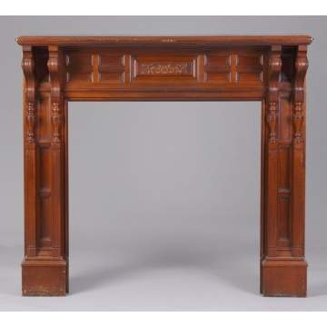 Victorian Cherry Fireplace Mantle