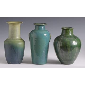 Group of 3 Art Pottery Vases