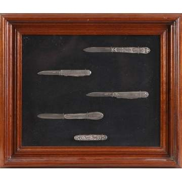 5 Early Sterling Pocket Knives
