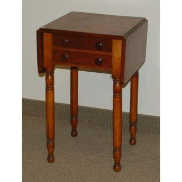 2 Drawer Drop Leaf Cherry Stand