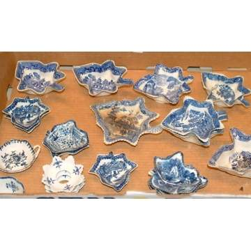 Staffordshire & Other Leaf Shaped Dishes