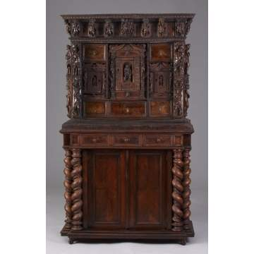 17th/18th Cent. Figural Carved Italian Cabinet on Stand