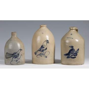 Group of Stoneware Jugs