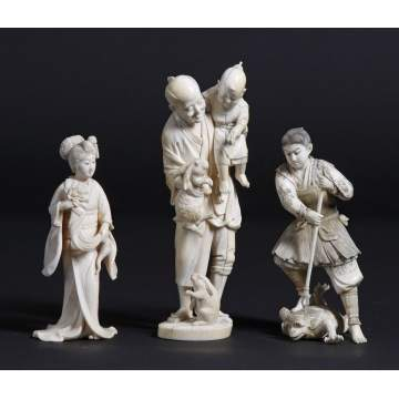 Carved Ivory Figures