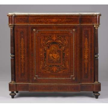 19th Cent. French Marble Top Side Cabinet