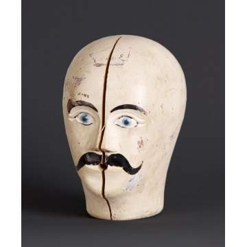 Folk Art Carved & Painted Head