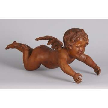 Carved Wood Putti