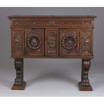 Early Italian Walnut Casson