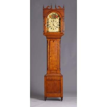 PA Tiger Maple Tall Case Clock