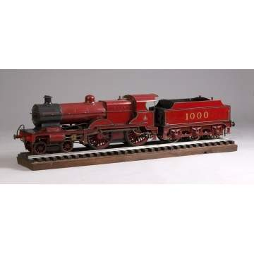 Eleanor Phillips Fine Iron, Metal & Brass Working Steam Model Locomotive & Tender