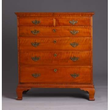 Tiger Maple 6-Drawer Chest