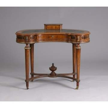 French Kingwood Kidney Shaped Ladies Desk