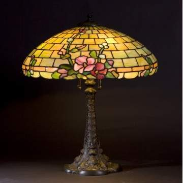 Duffner & Kimberly Floral Leaded Glass Lamp