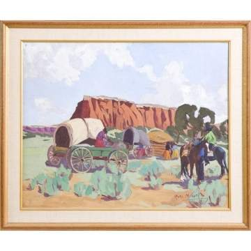 "Rosa M. Curtis (1894 - 1960) ""Navajo Country, 1932"""