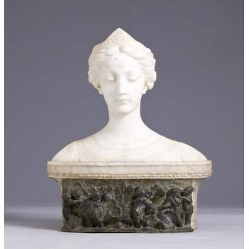 Sgn. Gall. Prof. A. Petrilli (Italian) Marble Bust