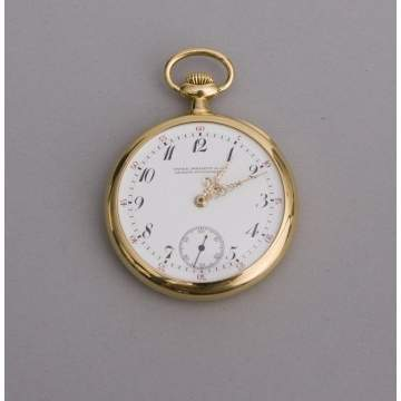 Patek Philippe 18K, 20 Jewel Pocket Watch