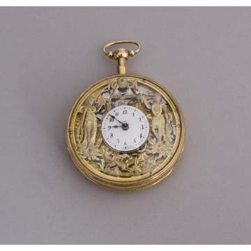 Fine Swiss 18K Automaton Quarter Repeater Pocket Watch