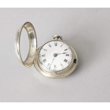 William Pridgin Hull Early Coin Silver Fusee Watch