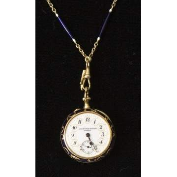Victorian Ladies Pendant/Watch w/Matching Chain