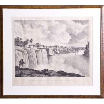 3 C & M Morse Prints of Genesee Falls