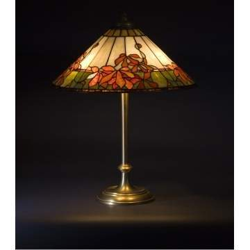 "Wilkinson Leaded Glass Lamp ""Virginia Creeper"""