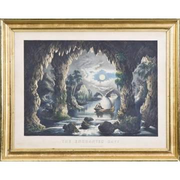 "Currier & Ives Litho. ""The Enchanted Cave"""
