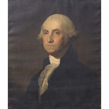 "Gilbert Stuart (American, 1755-1828) ""Winthrop Astor Chanler"" Portrait of George Washington"