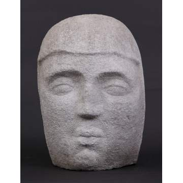 Carved Limestone Head