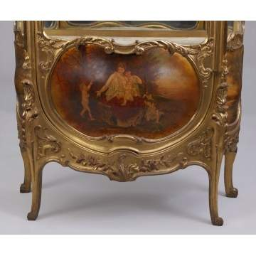 French Carved Giltwood Vitrine