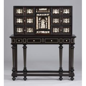 Ebonized & Ivory Inlaid Drawer Unit